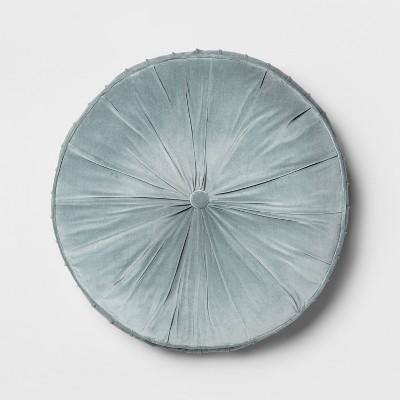 Pleated Velvet Oversize Round Floor Cushion Blue - Opalhouse™