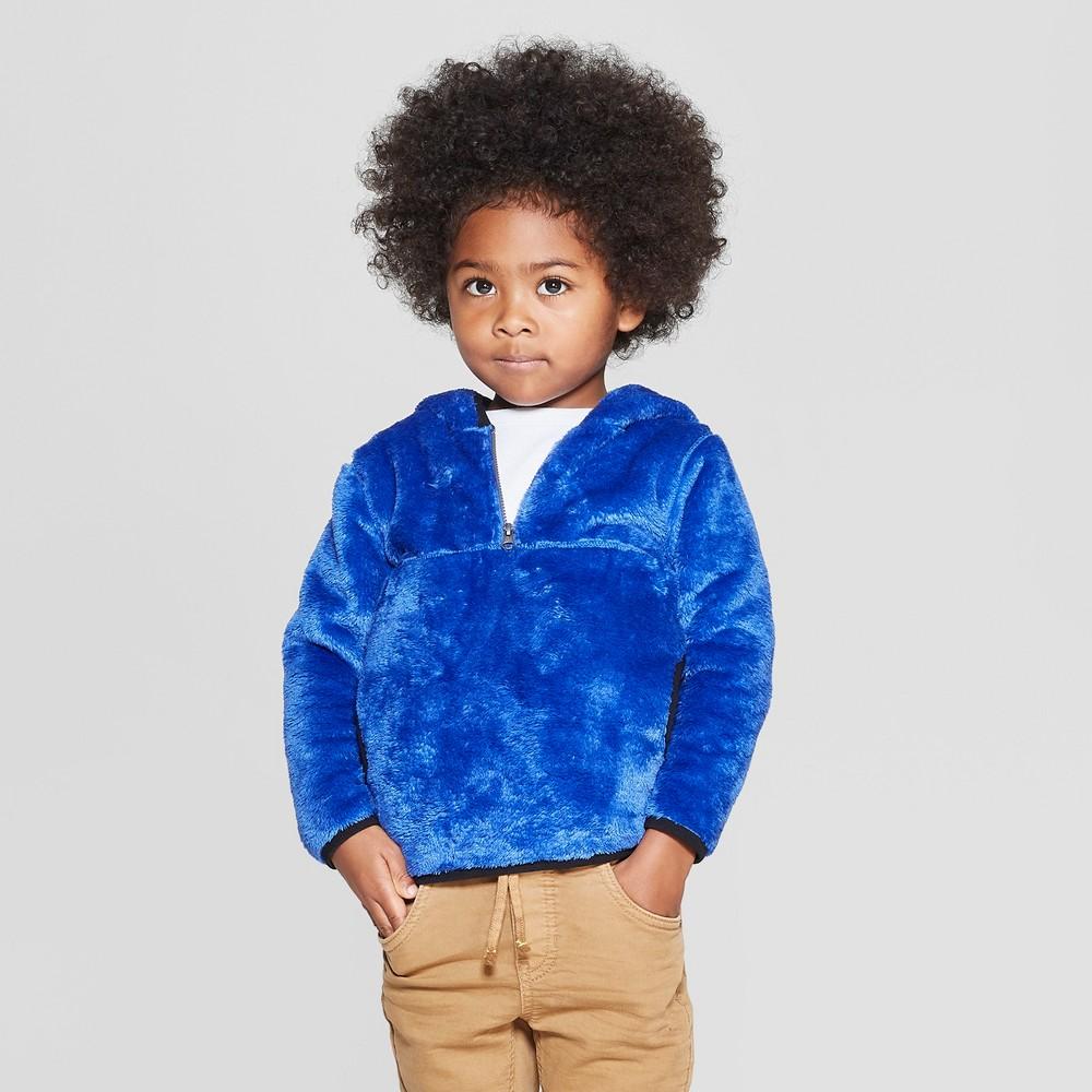 Toddler Boys Teddy Bear Fleece Hoodie Cat Jack 8482 Blue 12m