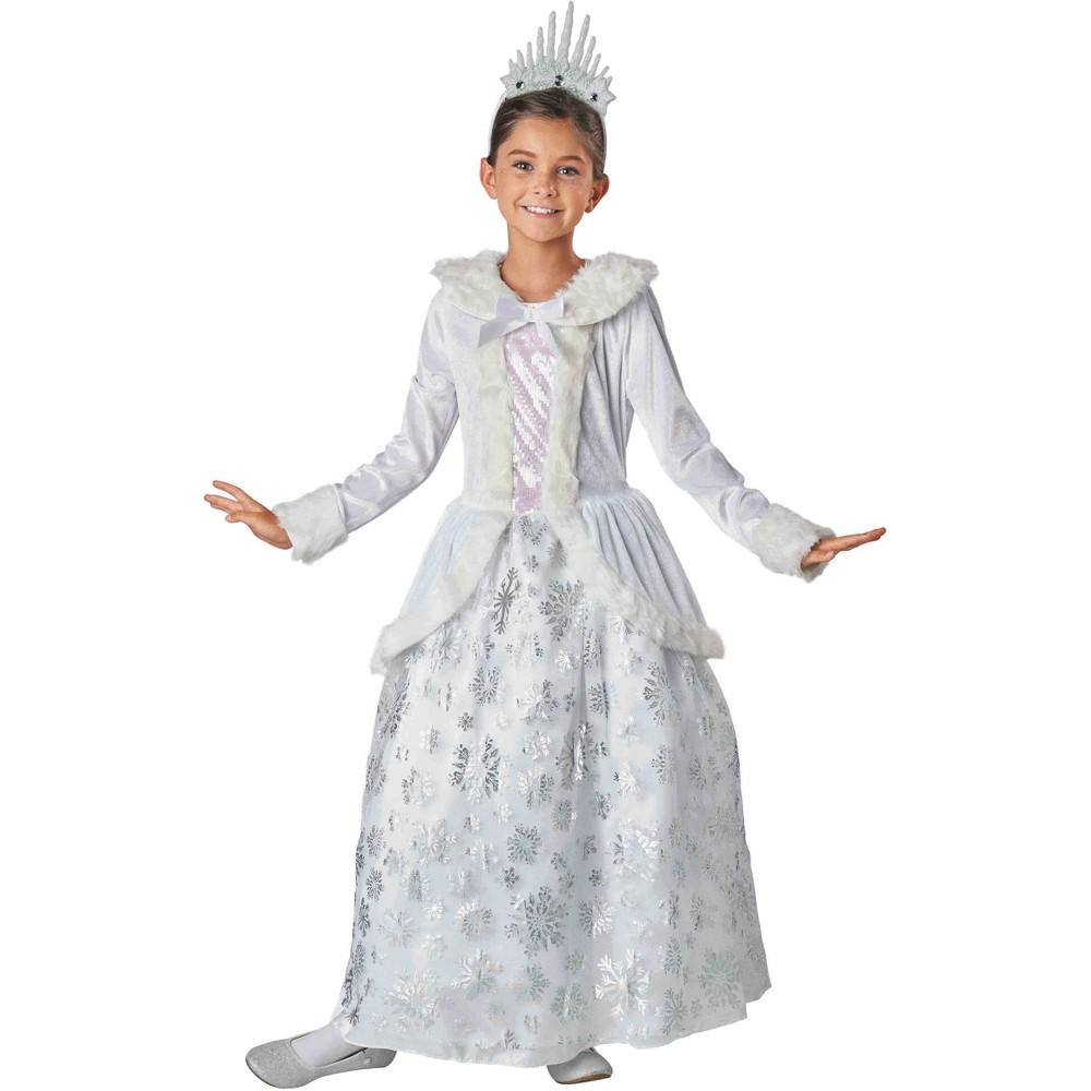 Girls' Deluxe Snow Queen Halloween Costume M (7-8) - Hyde and Eek! Boutique, Multicolored