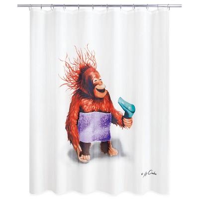 Blow Dryer Monkey Shower Curtain - Allure