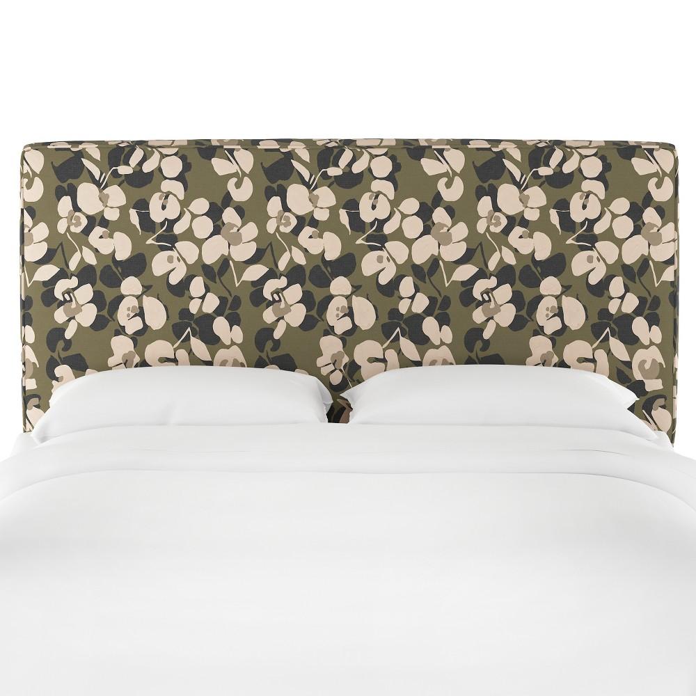 King Harper Box Seam Headboard Neutral Floral - Cloth & Co.