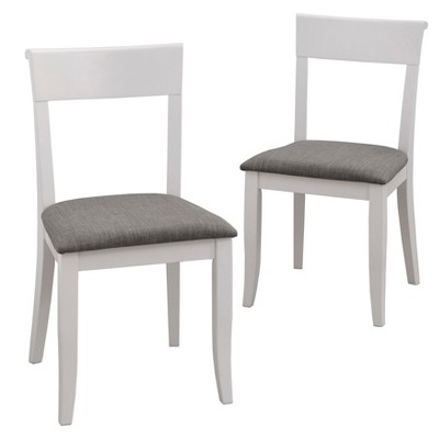 Set of 2 Bistrol Dining Chairs White - Buylateral
