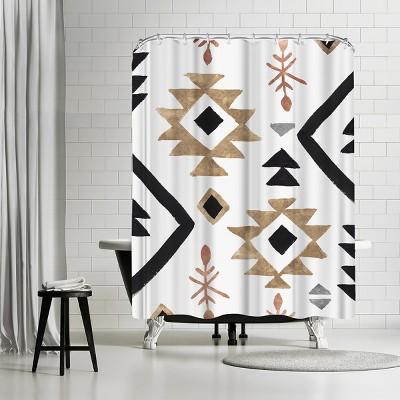 "Americanflat Rhythemics I by Pi Creative Art 71"" x 74"" Shower Curtain"