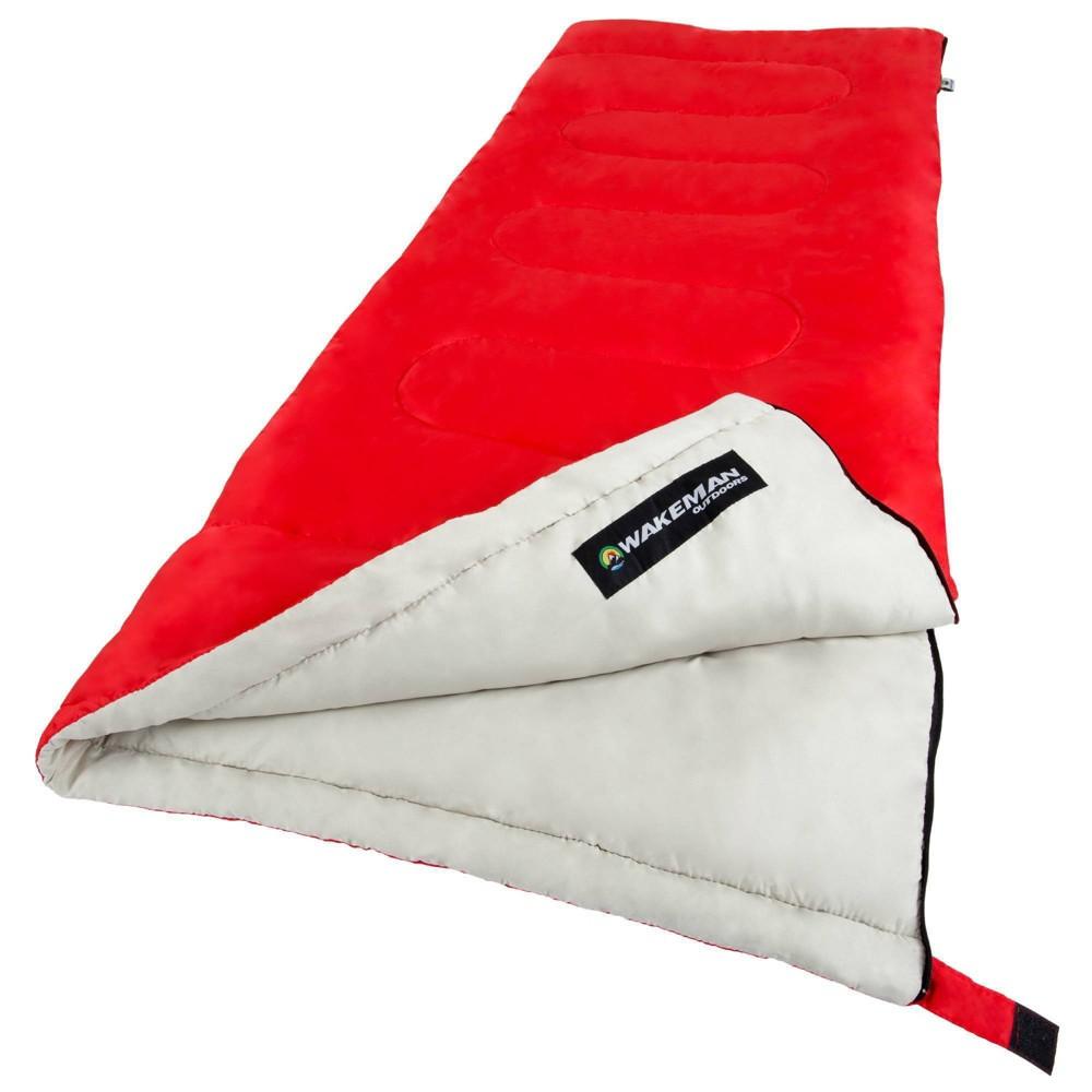 Wakeman 2 Season 50 Degrees Fahrenheit Adult Sleeping Bags Red
