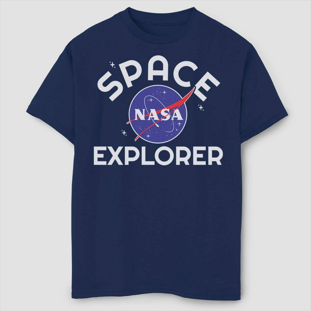 Image of Boys' NASA Space Explorer T-Shirt - Navy L, Boy's, Size: Large, Blue