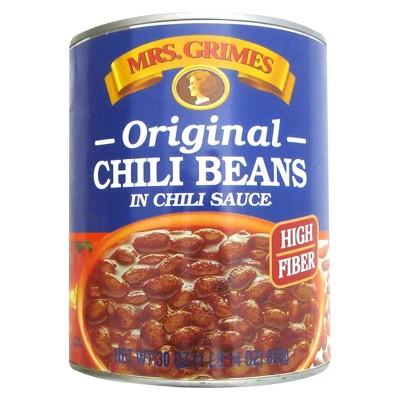 Mrs. Grimes Vegetarian Original Chili Beans in Chili Sauce - 30oz