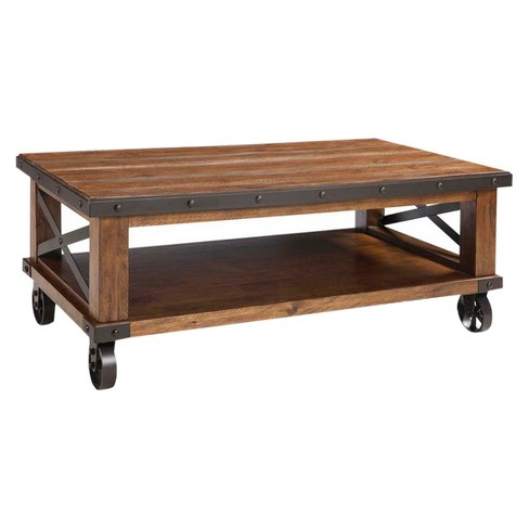 Taos Coffee Table With Casters Brown - Intercon - image 1 of 1