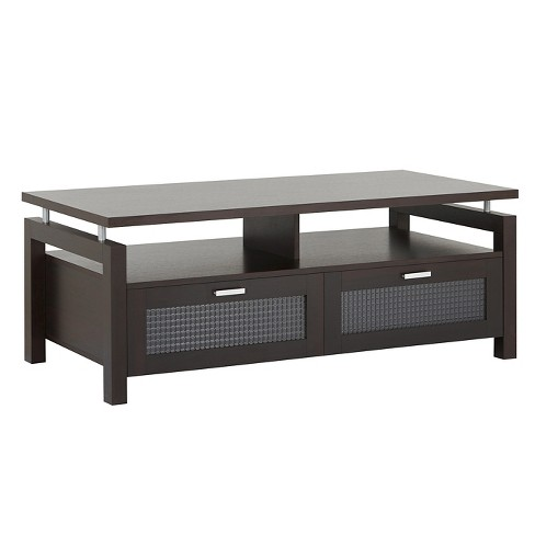 Camille Modern Uplifted Top Coffee Table Espresso Homes Inside Out