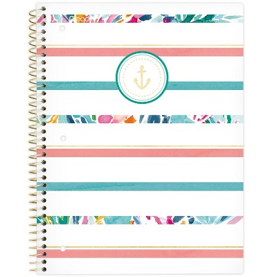 Spiral Notebook 1 Subject College Ruled Sail Away Stripe - Mead