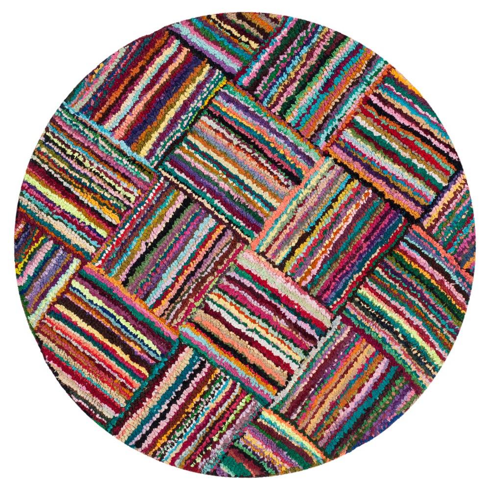 Eton Accent Rug - 4'x4' Round - Safavieh, Multi-Colored