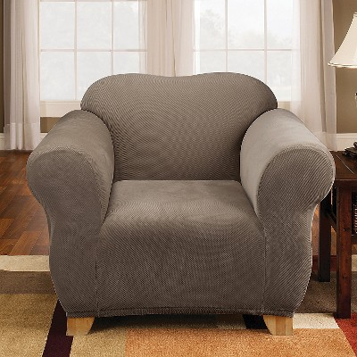 Stretch Pique Chair Slipcover Taupe - Sure Fit, Brown