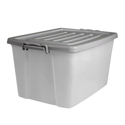 Home Logic 55qt Latching Storage Bin Translucent