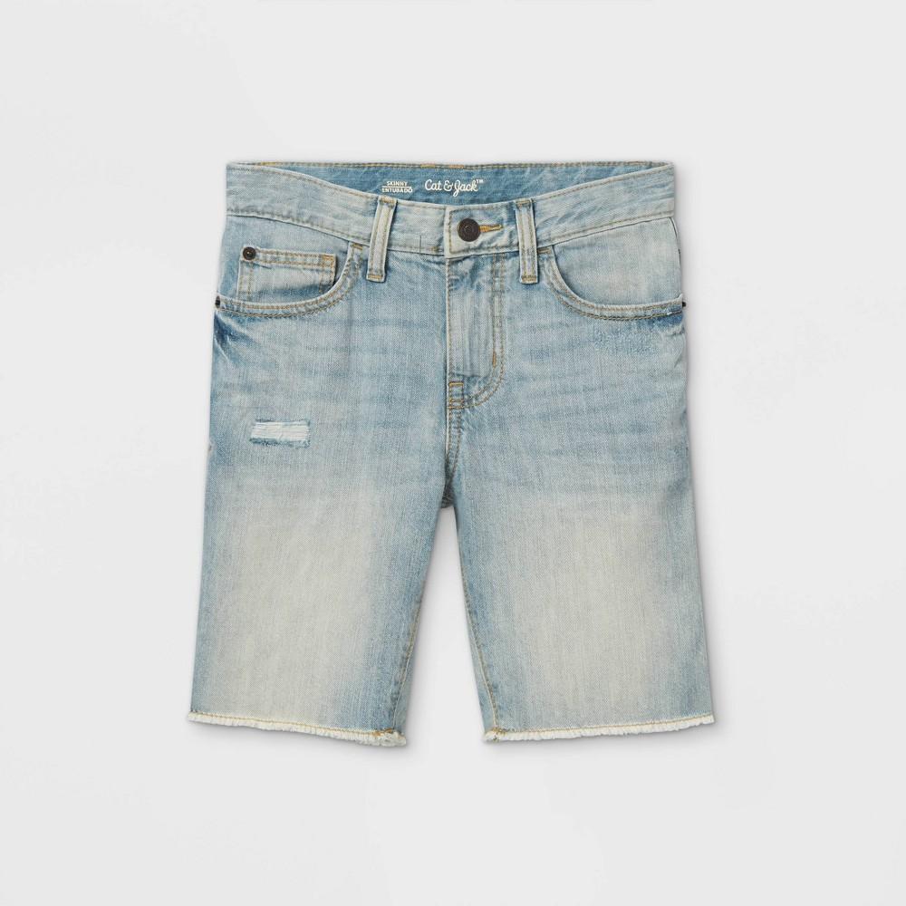 Boys 39 Jean Shorts Cat 38 Jack 8482 Light Wash 4