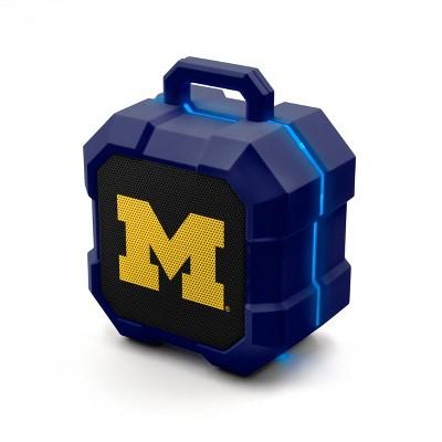 NCAA Michigan Wolverines LED Shock Box Bluetooth Speaker