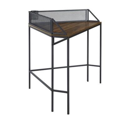 Miro Urban Industrial Corner Desk with Pen Storage - Saracina Home