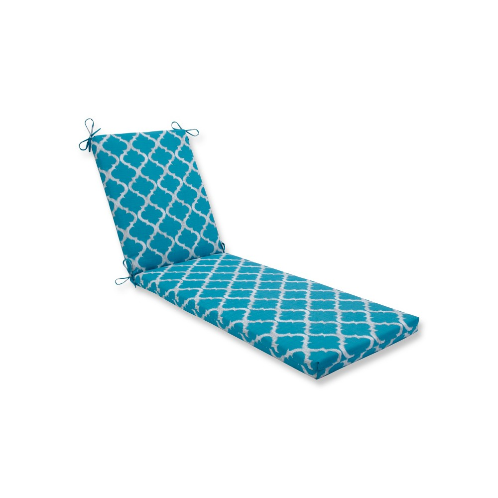 Indoor/Outdoor Kobette Teal Chaise Lounge Cushion - Pillow Perfect, Blue