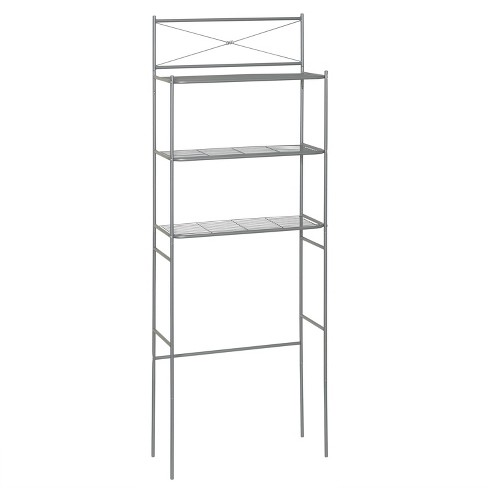 Spacesaver Over The Toilet Etagere Brushed Nickel Zenna Home Target