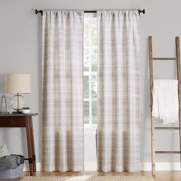 Sebastian Plaid Semi-Sheer Rod Pocket Curtain Panel - No. 918 - image 1 of 7