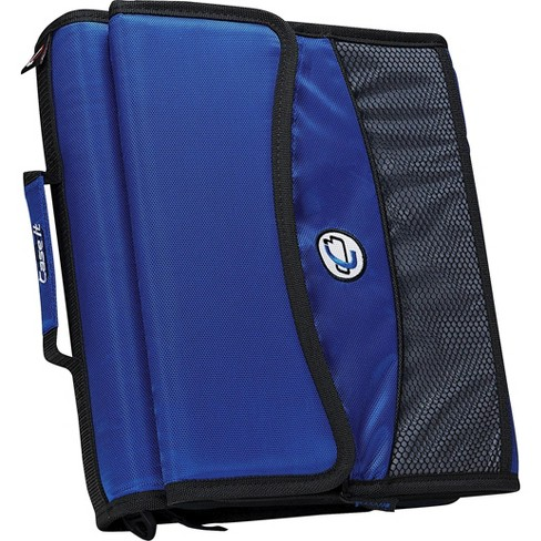 Case it D-901 2 Blue Zipper Binder with  - image 1 of 4