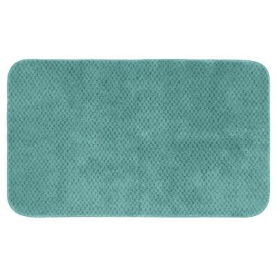 Garland Cabernet Nylon Washable Bath Rug - Seafoam (30 x50 )