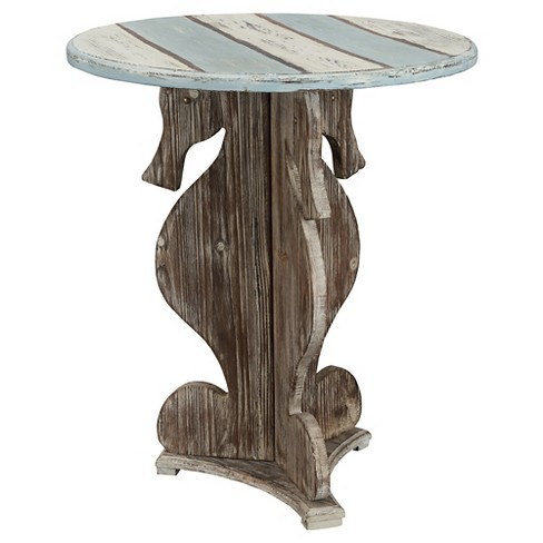 Nautical Fir Wood Accent Table - Multicolored - Christopher Knight Home - image 1 of 2