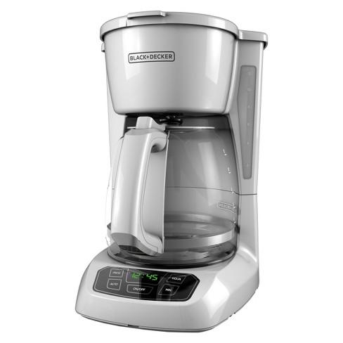 8e662c35d744 BLACK+DECKER 12 Cup Programmable Coffeemaker - White CM1100W   Target