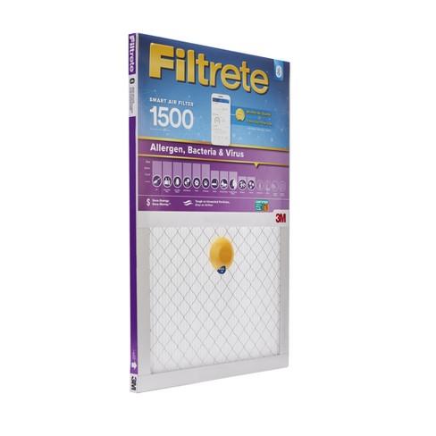 "filtrete smart air filter, 16""x20""x1"", 1500 mpr : target"