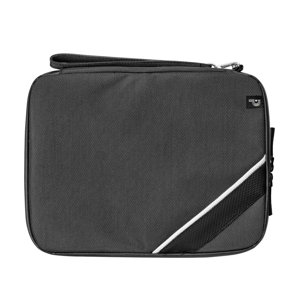 Porte Play Tablet Portfolio - Black Stay connected and get more out of your tablet with convenient organizer. This zip bag holds your tablet, its charger and cords, and additional accessories so you never have to worry about your battery dying mid-game or mid-movie. Color: Black.