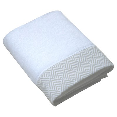 Echo Matelesse Bath Towel - White/Gray - Fieldcrest™