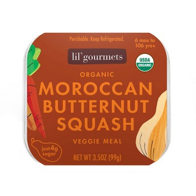 Lil' Gourmets Organic Moroccan Butternut Squash Veggie Baby Meals - 3.5oz