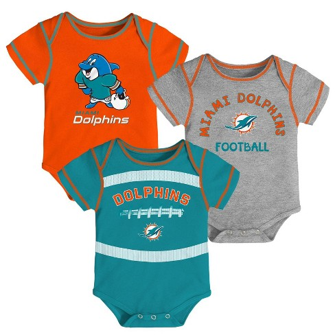 6c05369d NFL Miami Dolphins Baby Boys' Newest Fan 3pk Bodysuit Set - 12M