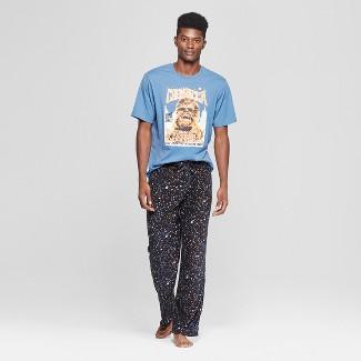 Men's Star Wars Chewbacca Logo Novelty Pajama Set - Dark Blue XL