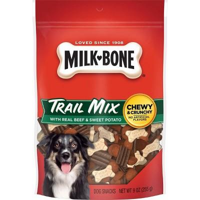 MilkDog Treats Bone Trail Mix Beef & Sweet Potato Dog Treats -9oz