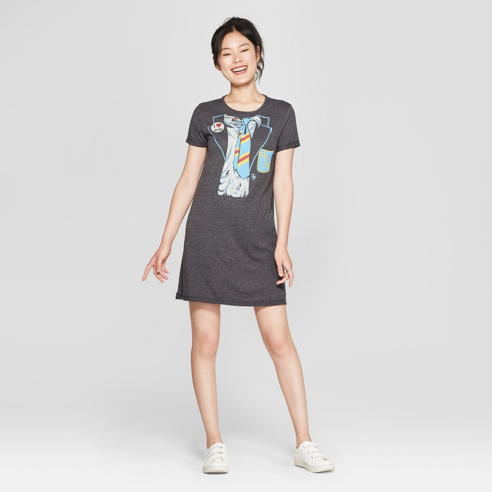 petiteJunk Food Women's Short Sleeve AC/DC Tie Graphic T-Shirt Dress - Black M was $24.0 now $7.19 (70.0% off)