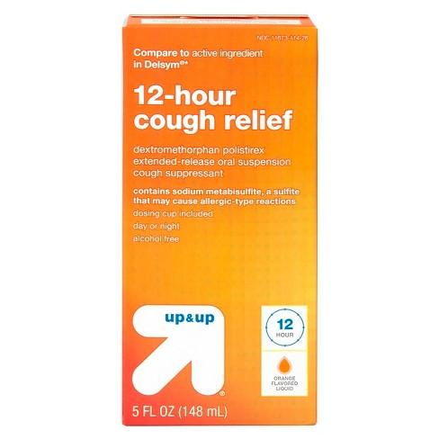 cough suppressant dm 12 hour orange liquid 5oz up up compare to