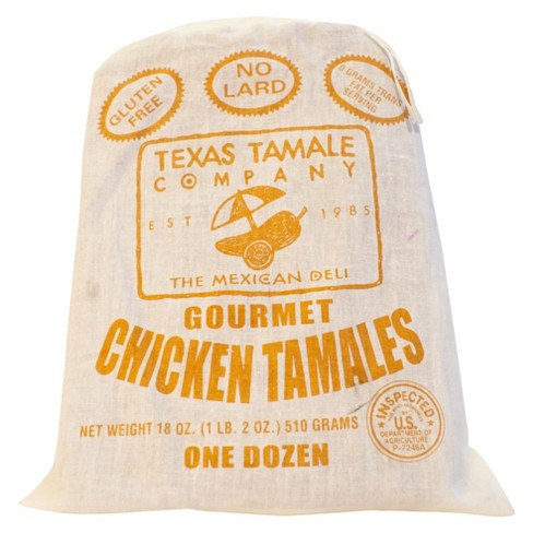 Texas Tamale Company Gourmet Frozen Chicken Tamales - 18oz - image 1 of 1