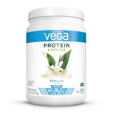 Vega Protein & Greens Vegan Protein Powder - Vanilla - 18.6oz