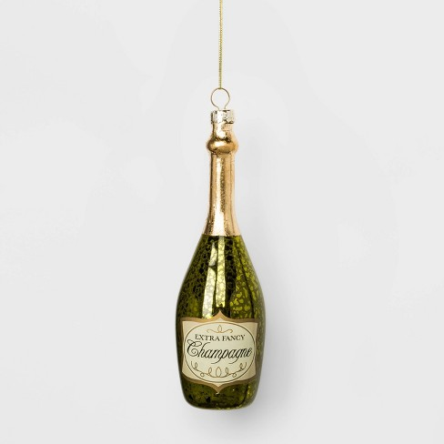 Champagne Bottle Glass Christmas Ornament - Wondershop™ - image 1 of 2