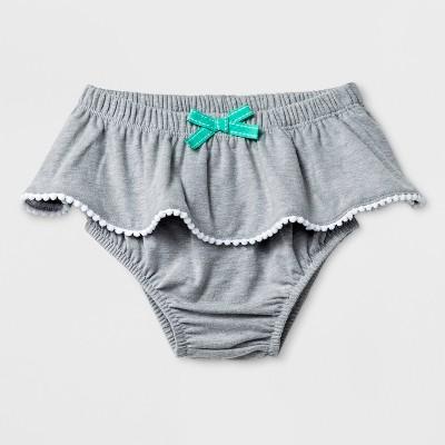 Baby Girls' Ruffle Bloomer Skirt - Cat & Jack™ Gray 6-9M