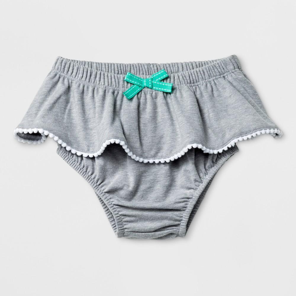 Baby Girls' Ruffle Bloomer Skirt - Cat & Jack Gray 6-9M