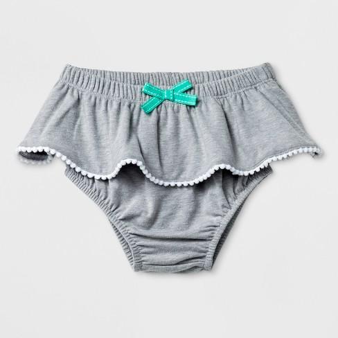 Baby Girls' Ruffle Bloomer Skirt - Cat & Jack™ Gray 6-9M - image 1 of 2