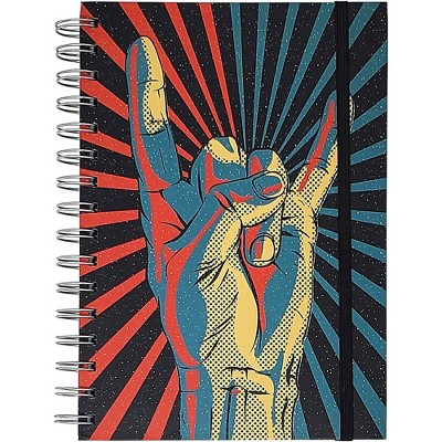Pyramid America Rock On! Hand Starburst Premium Journal