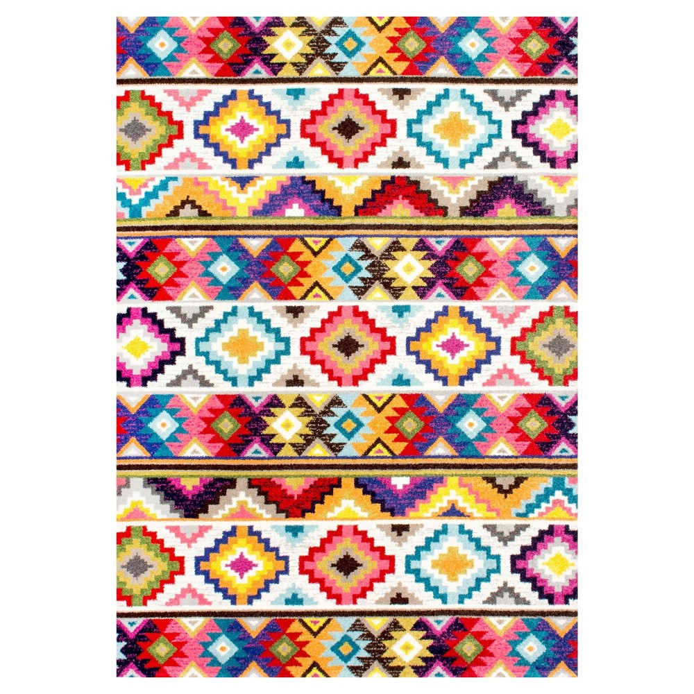 Abstract Woven Area Rug - (5'x8') - nuLOOM, Multicolored