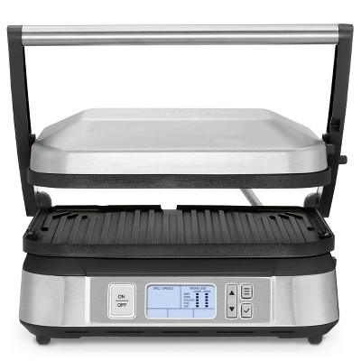 Cuisinart Contact Griddler with Smoke-less Mode - Brushed Stainless Steel - GR-6STG
