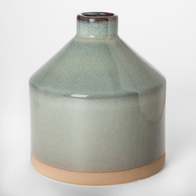 Stoneware Wide Vase - Gray - Project 62™