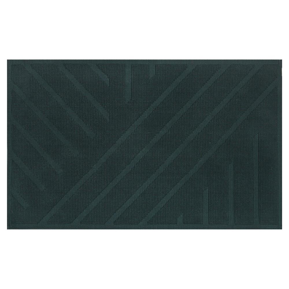 "Image of ""20""""x34"""" Geo Stripe Bath Mat Dark Green - Project 62 + Nate Berkus"""