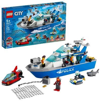 LEGO City Police Patrol Boat Building Kit 60277