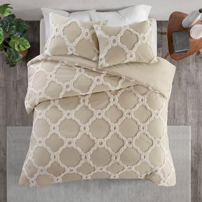 3pc Leena Cotton Geometric Duvet Cover Set