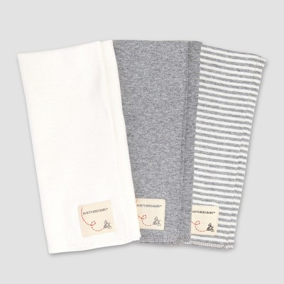 Burt's Bees Baby® Organic Cotton 3pk Burpcloths - Heather Gray