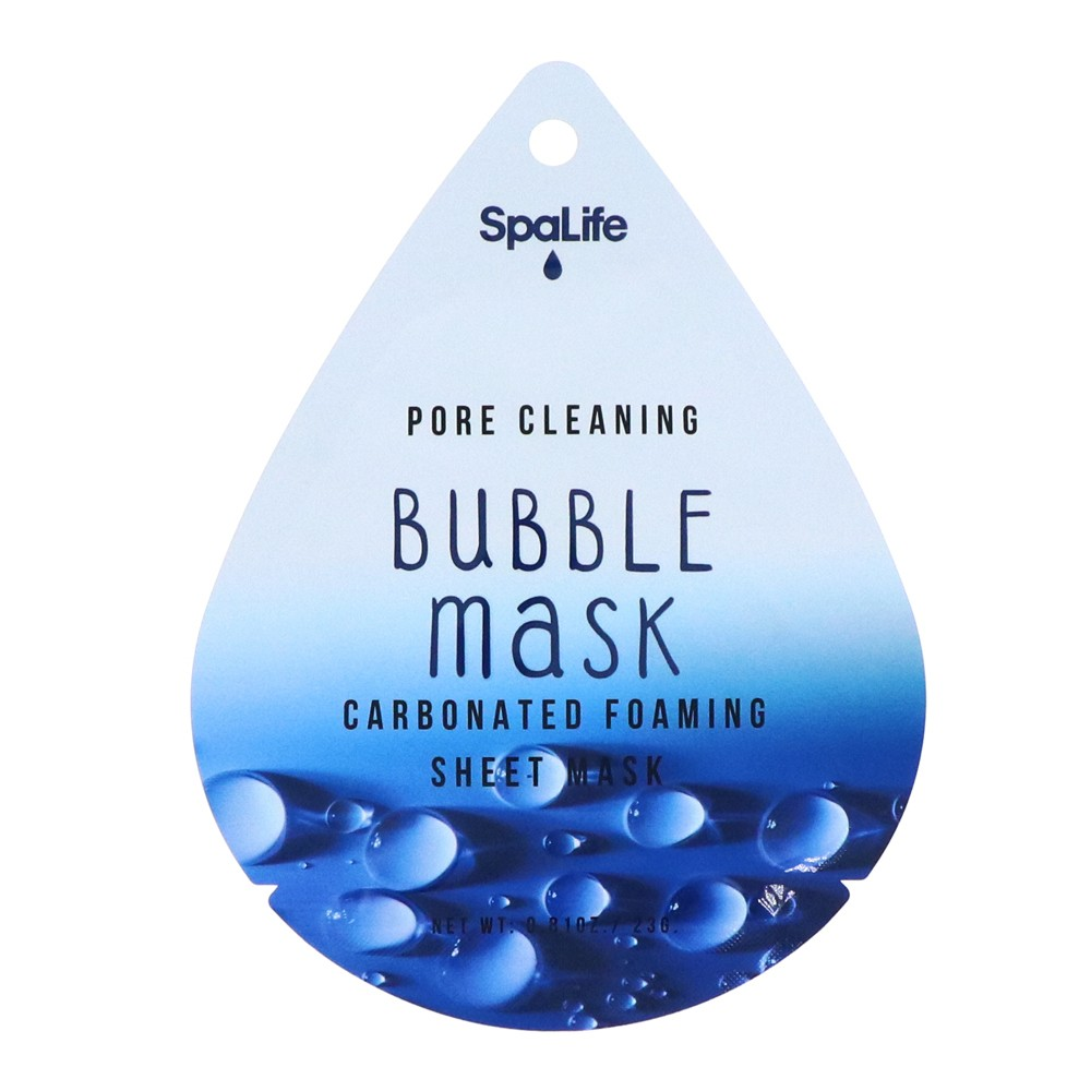 My Spa Life Pore Cleaning Charcoal Bubble Mask Facial Treatment - 1ct